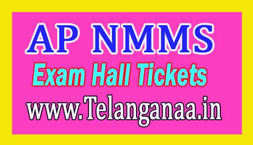 AP NMMS Exam Hall tickets 2017 Download