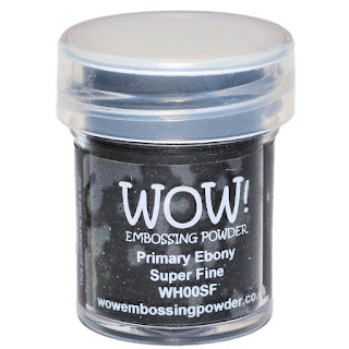 WOW! Embossing Powder Super Fine Primary Ebony