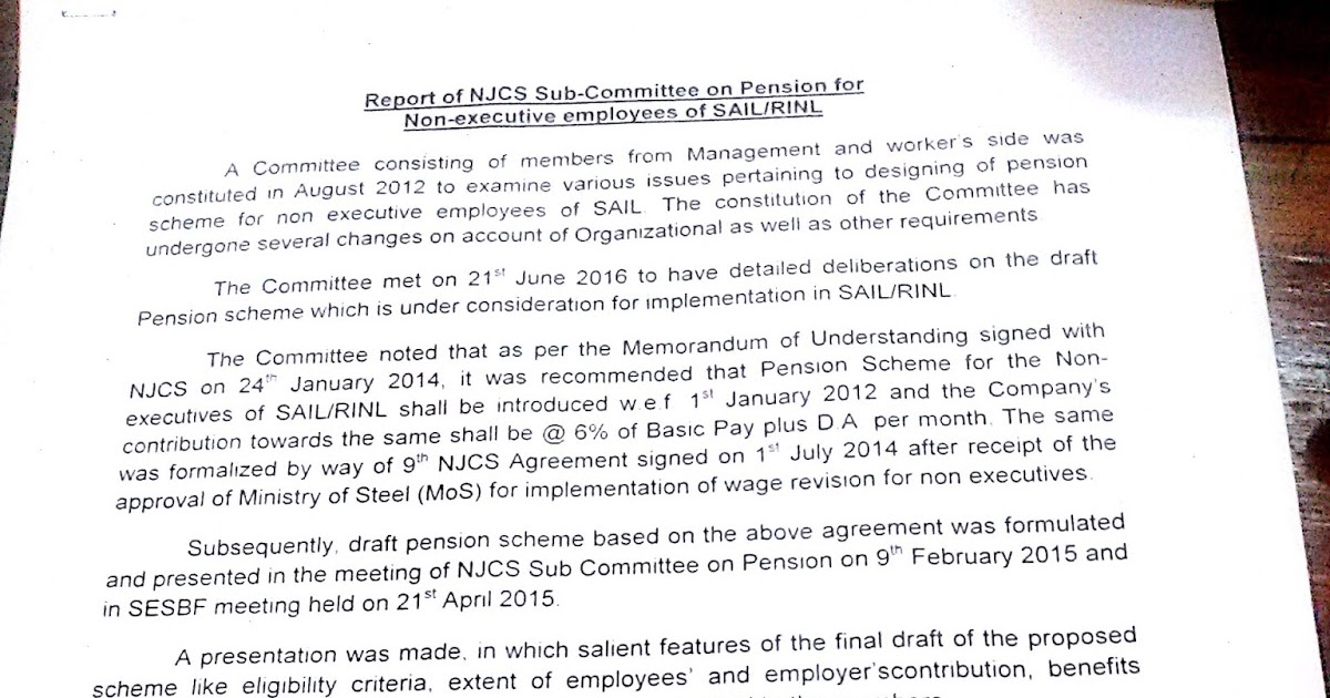 Sail Ex Employees Association Pension Scheme As Agreed To On 21st