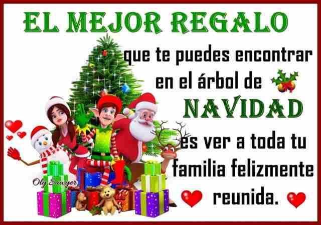 El mejor regalo que uno puede recibir en navidad es tener una familia unida