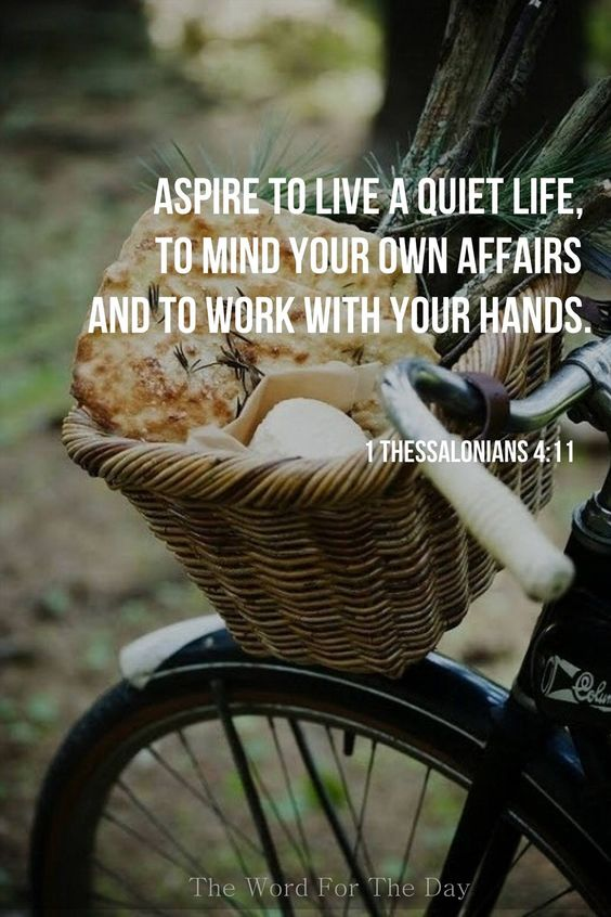 Thessalonians scripture verse on photo of vintage bicycle