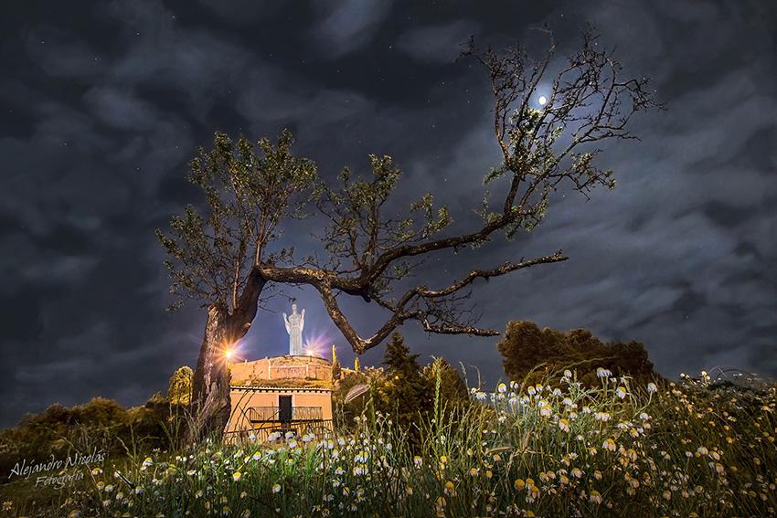 Cristo del Otero nocturna. Palencia
