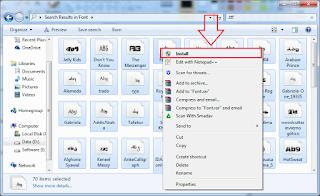 Cara Menambah Font Di Photoshop install