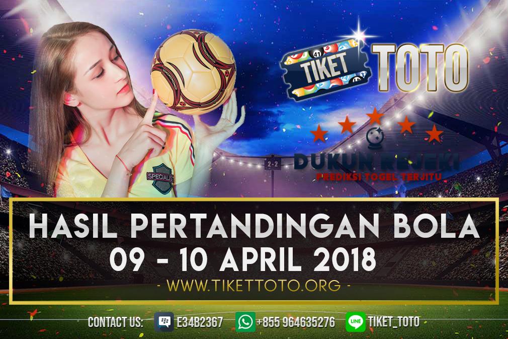 HASIL PERTANDINGAN BOLA TANGGAL  09 – 10 APRIL 2019