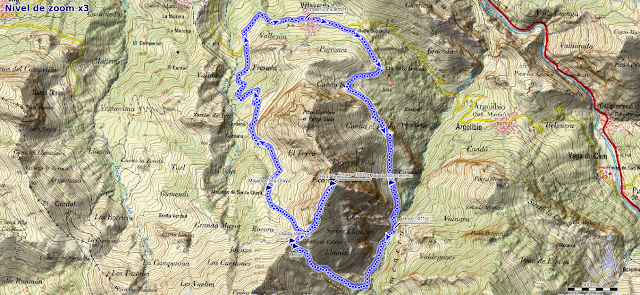 Mapa ruta Pico Teyéu