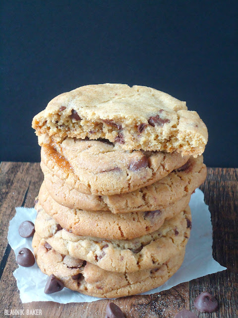 Brown Butter Salted Caramel Chocolate Chip Cookies