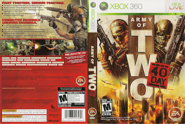 Capa xBox360 Army of Two The 40th Day
