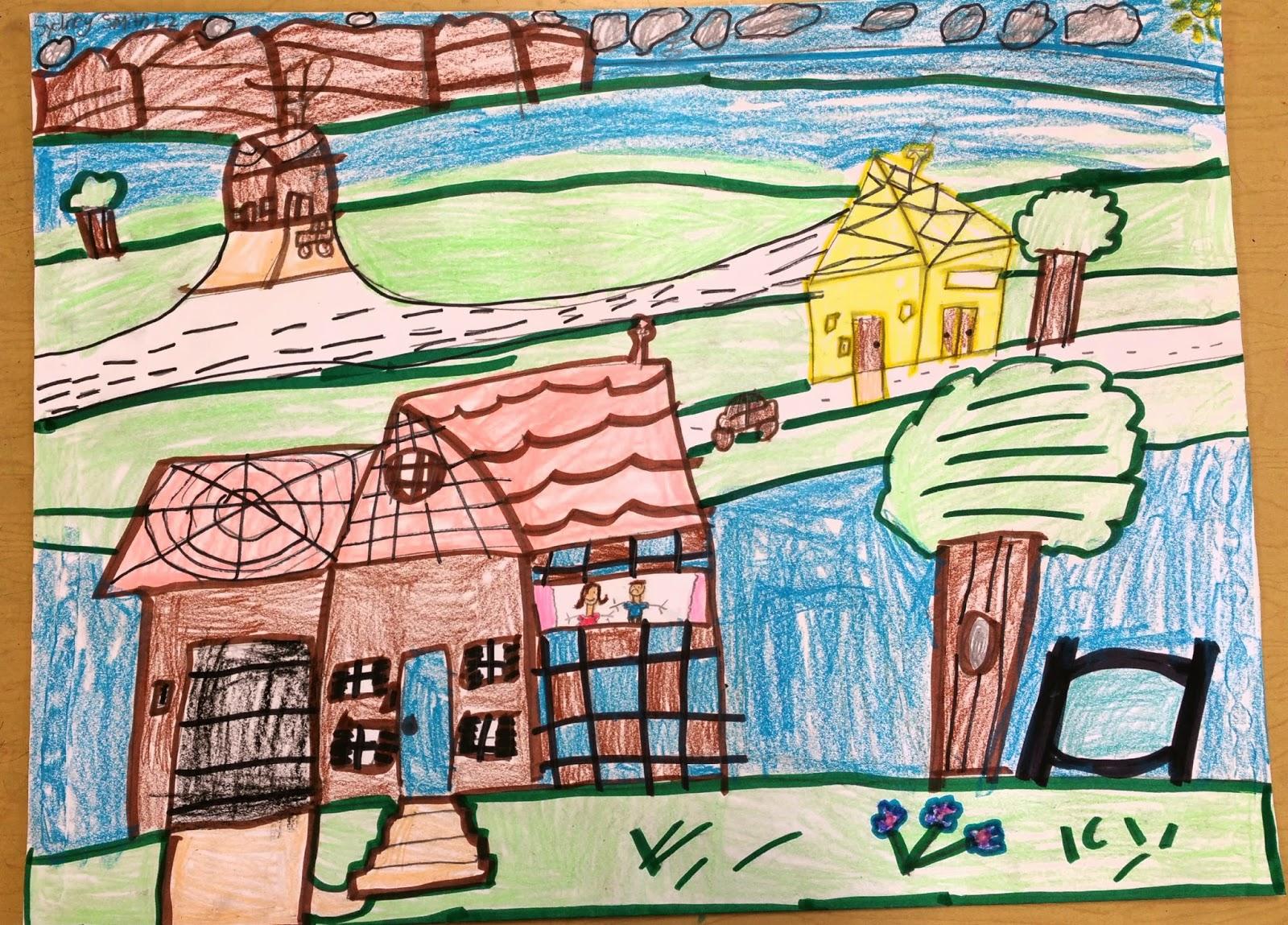 Paintbrush Rocket 2nd Grade Landscapes Slo Lesson On Art Folders
