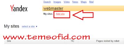 Cara Daftar Domain ke Yandex Webmaster