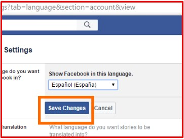 how to change the language on facebook notifications
