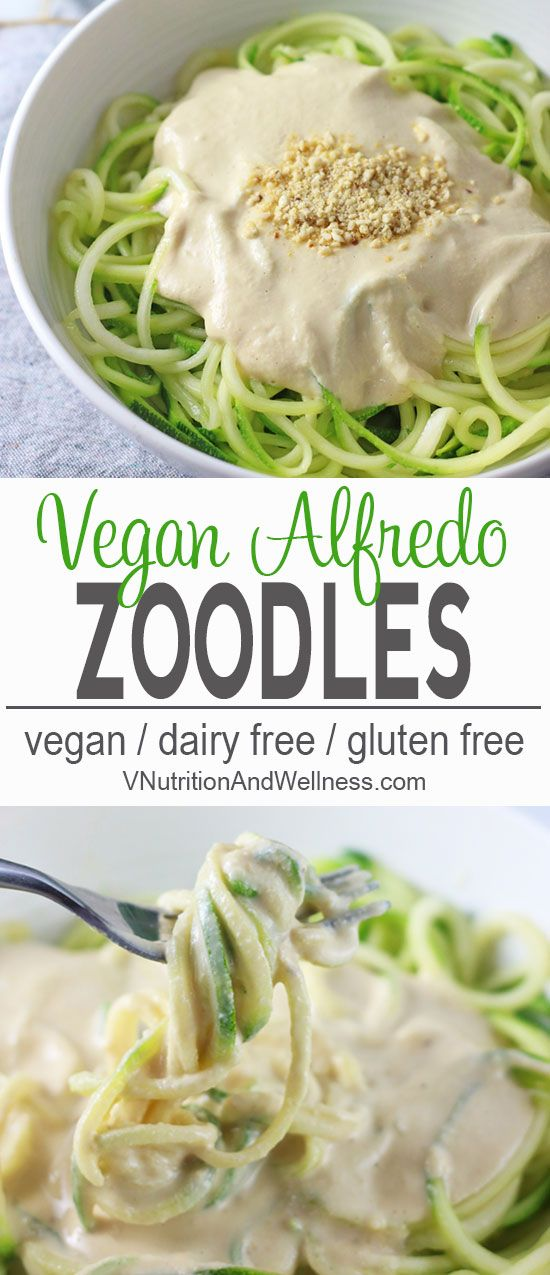 Vegan Zucchini Pasta Alfredo