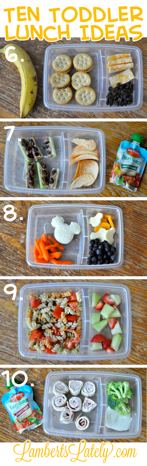 Ten (Quick and Easy) Toddler School Lunch Ideas