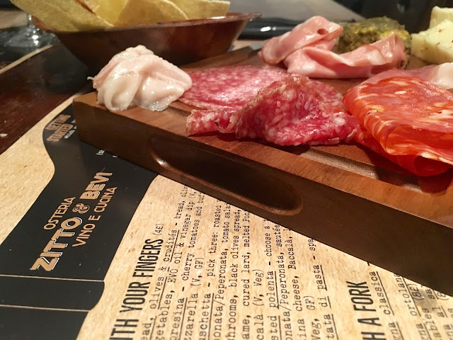 Cured Meats and Cheese at Zitto and Bevi