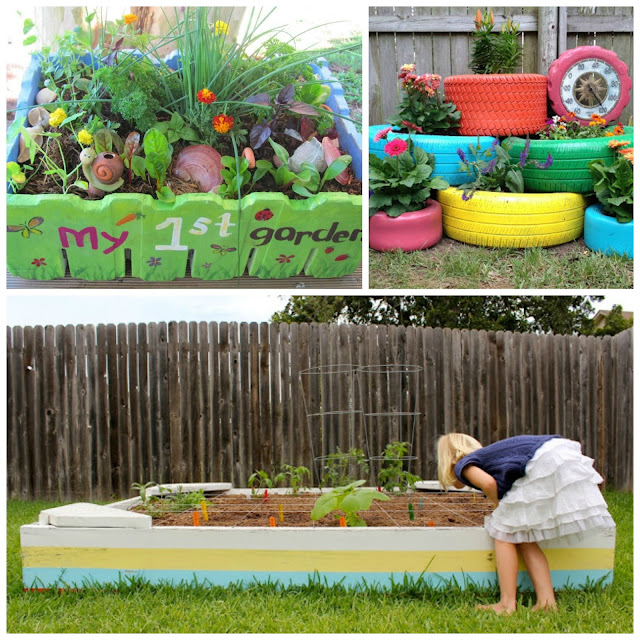 Garden ideas for kids images for Fun vegetable garden ideas
