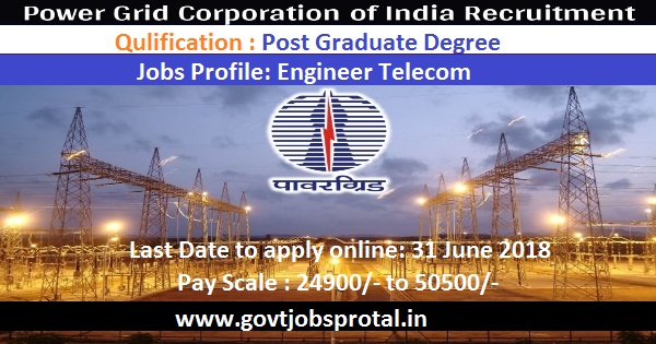 POWERGRID RECRUITMENT 2018