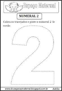 Numeral 2 pontilhado