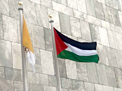 Palestinian Flag at UN