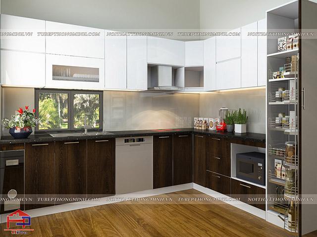 Mẫu thiết kế tủ bếp nhựa laminate-3