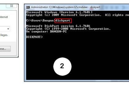 Cara Format USB Flashdisk / Hardisk dengan CMD/Command Prompt Windows 7/8/8.1/10