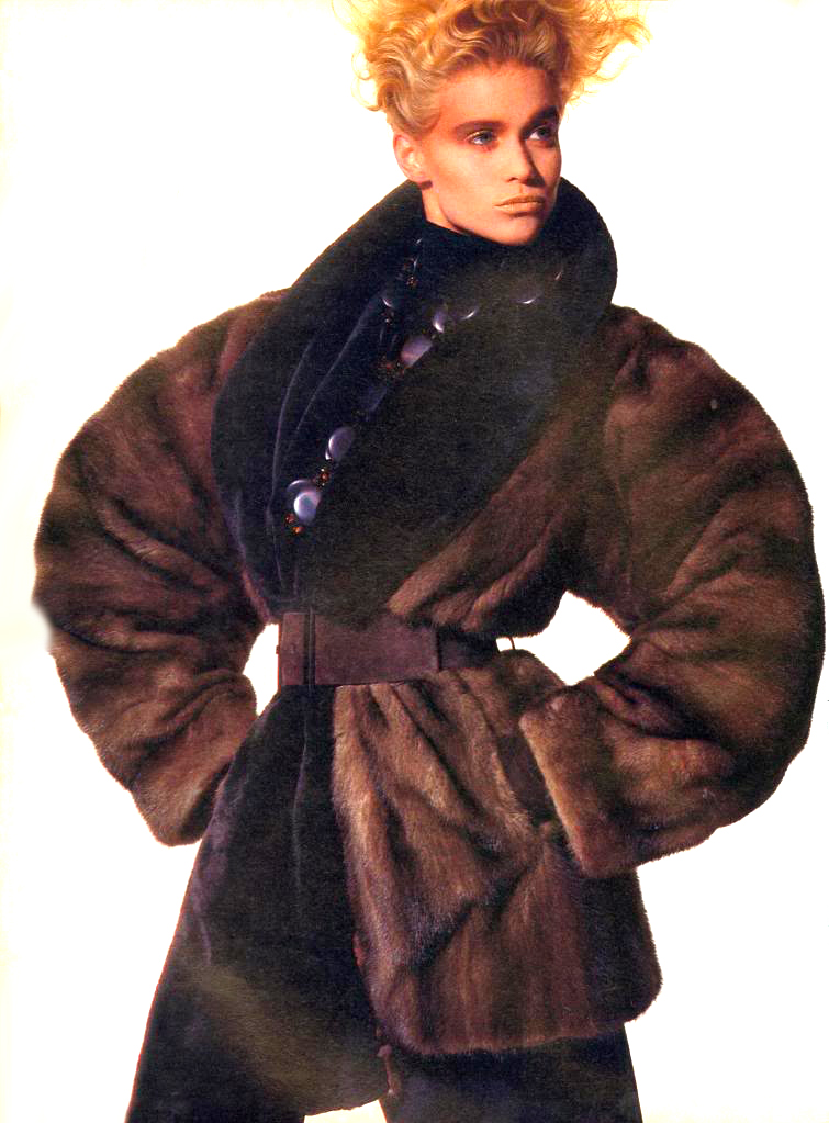 Yves Saint Laurent in Vogue US October 1985 (photography: Irving Penn) via www.fashionedbylove.co.uk