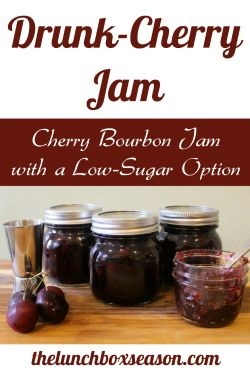 Cherry Bourbon Jam with a Low-Sugar Option