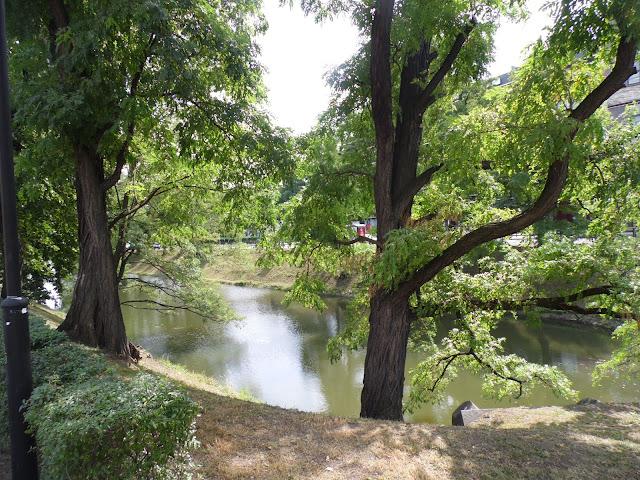 Wrocław, park w okolicach fosy
