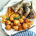 Nigerian Puff Puff With Fried Plantain And Fish