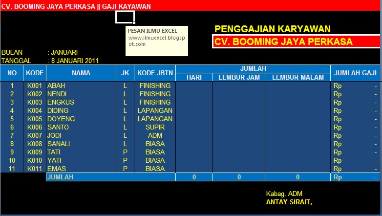 Download gratis aplikasi software payroll indonesia: