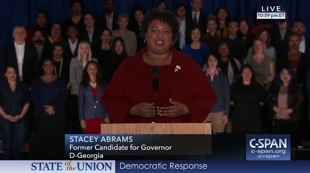 State of the Union 2019 Democratic Response Stacey Abrams IBEW Auditorium