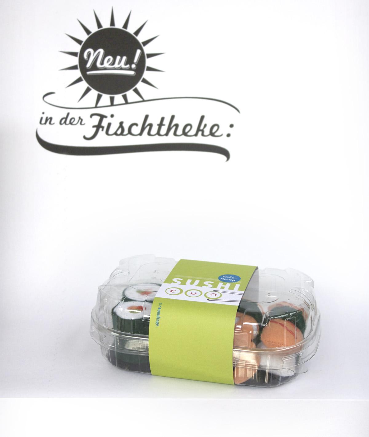 Raumdinge Kaufladenzubehör Selber Machen Nr 7 Sushi Aus Filz