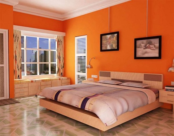 Fotos de quartos casal cor de laranja decora o e ideias - Pintura de dormitorios ...