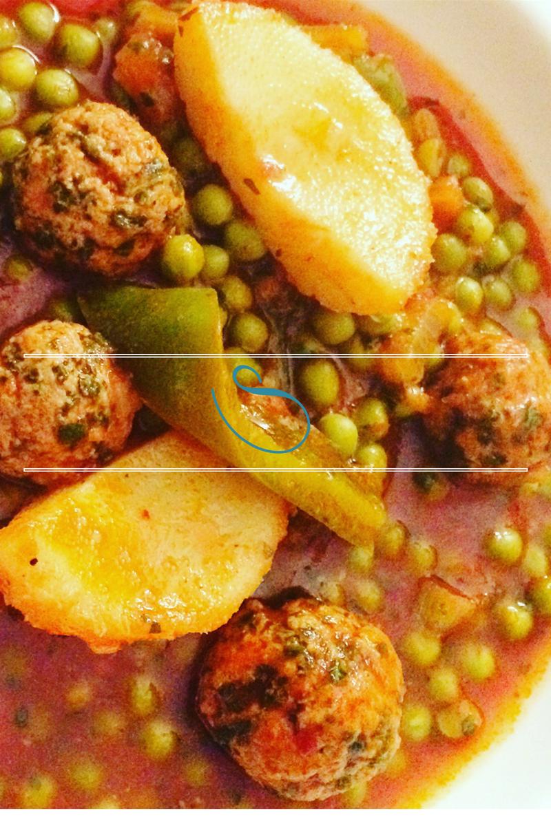 #Tunisian green pea and artichoke stew | Ragoût Tunisien de petits pois et artichaut | Jelbana