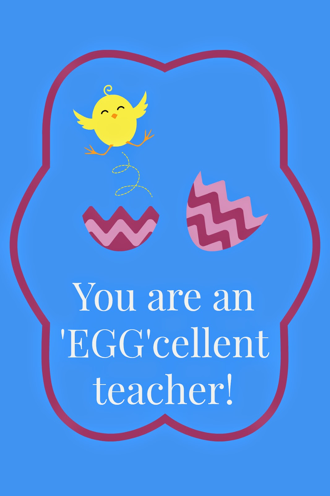 East coast mommy easter teacher gift with free printable tags easter teacher gift with free printable tags negle Image collections