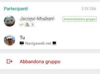 evitare gruppo whatsapp