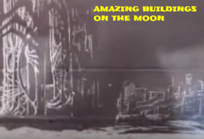 Buildings on the moon.