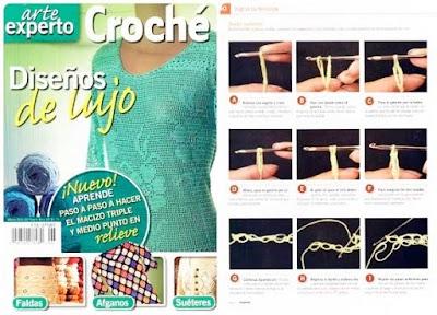 Revista design lujo para mujer a crochet