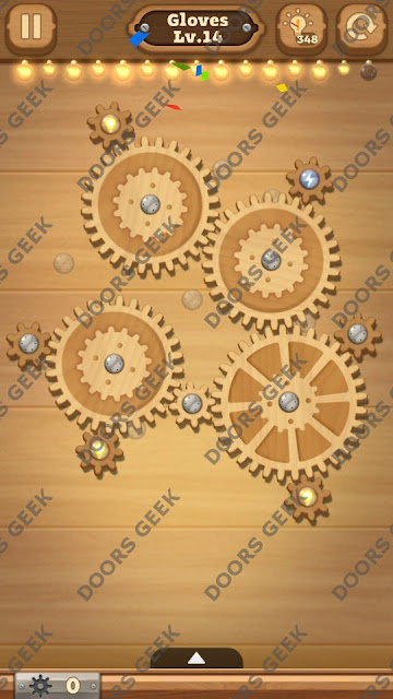 Fix it: Gear Puzzle [Gloves] Level 14 Solution, Cheats, Walkthrough for Android, iPhone, iPad and iPod