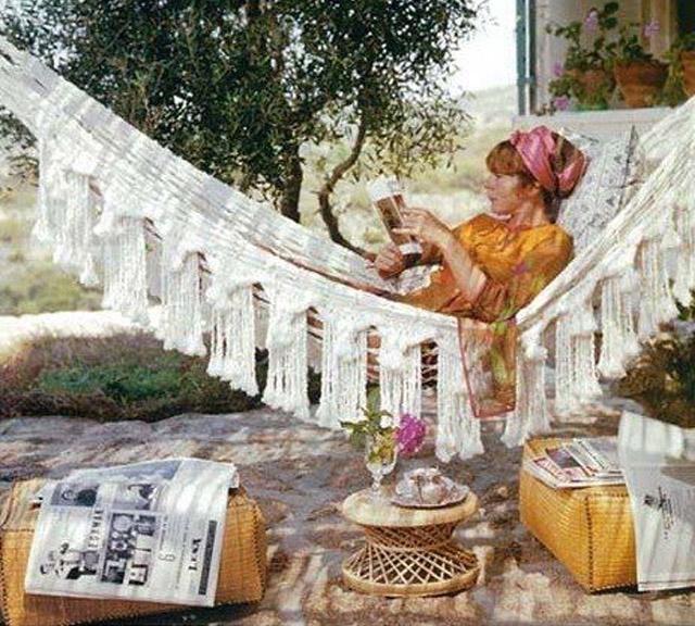 hamac hippie vintage
