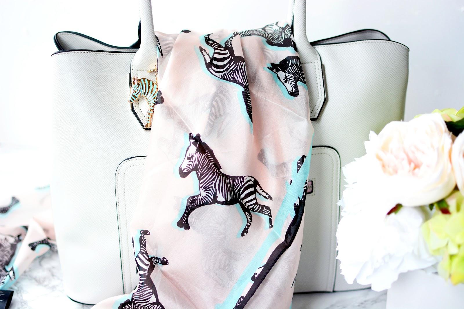 T by Tabitha Webb zebra print scarf