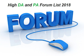 High PA DA Do Follow Forum list's 2018