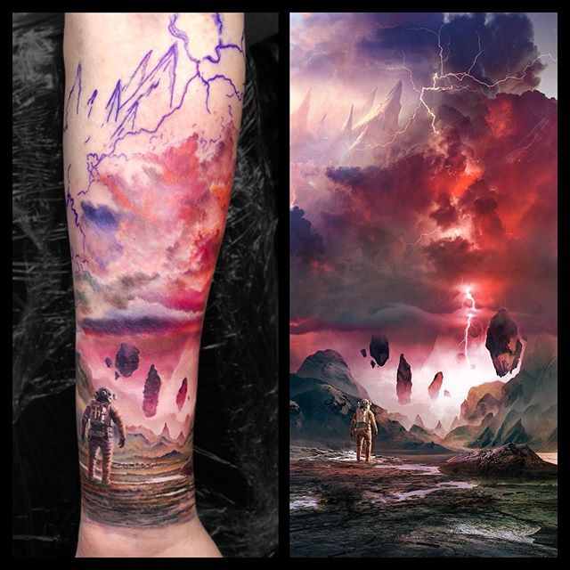 space tattoo ideas