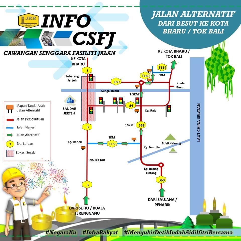 Jalan Alternatif Dari Besut Ke Kota Bharu/ Tok Bali