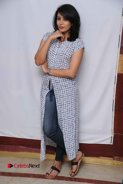 Tamil Kannada Actress Kavya Shetty Stills at Smile Please Movie Press Meet  0007.jpg