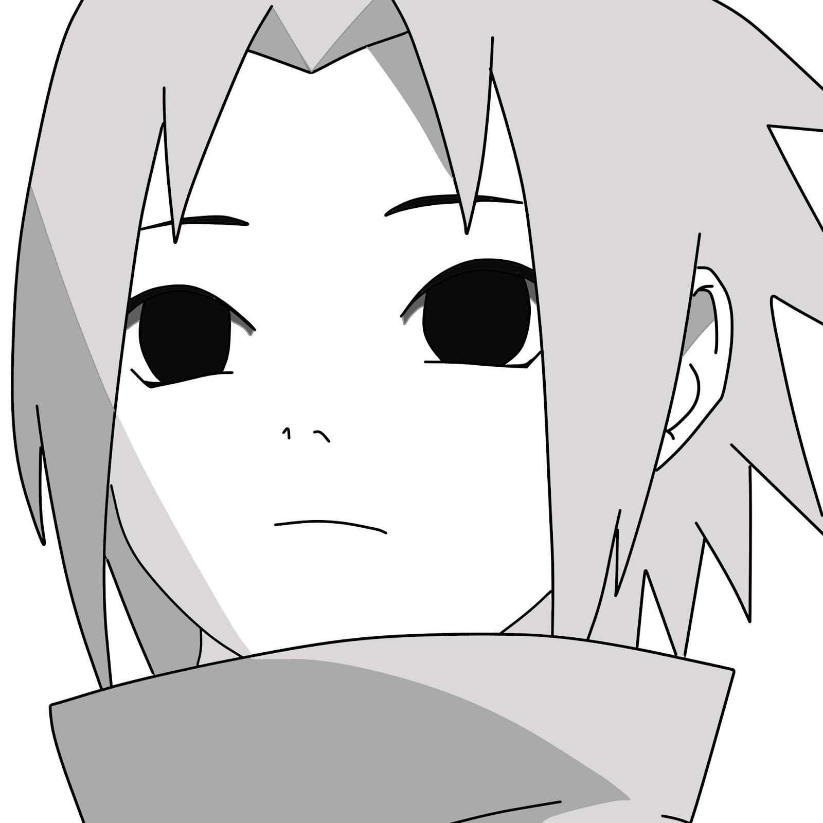 Kumpulan Gambar Sketsa Anime Sasuke