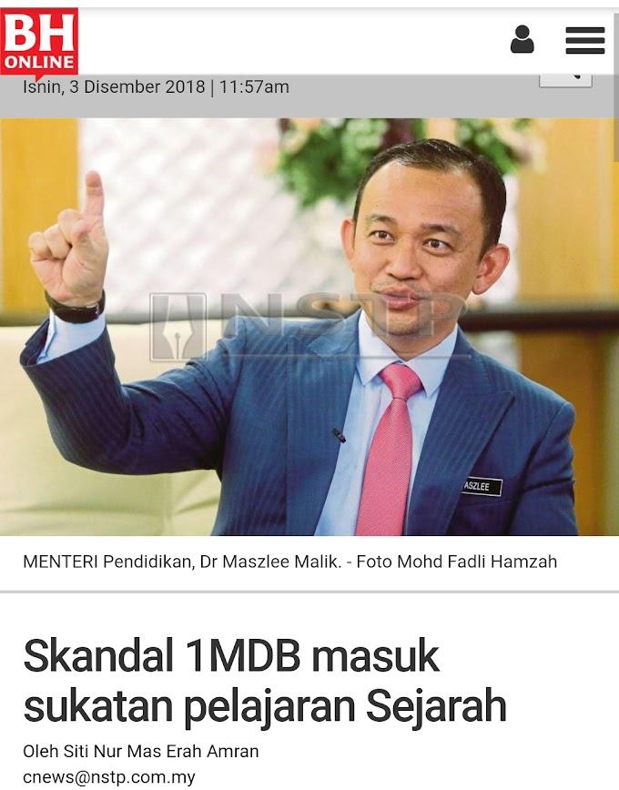 Setuju Skandal 1MDB dan BMF Masuk Sukatan Pelajaran Sejarah