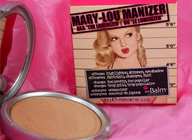 Mary lou manizer - the balm - highlighter - swatch - review - golden highlight