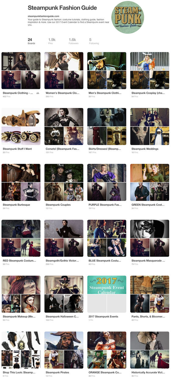 Steampunk Fashion Guide on Pinterest!