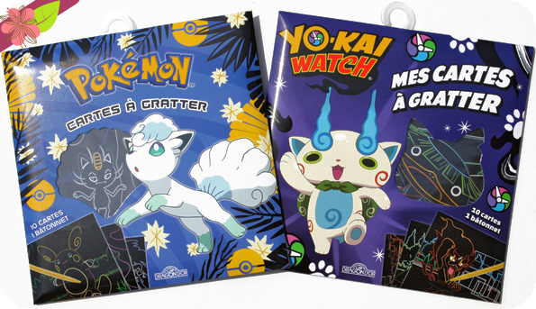 Mes Cartes à gratter - Pokémon et Yo-Kai Watch - Les livres du Dragon d'Or