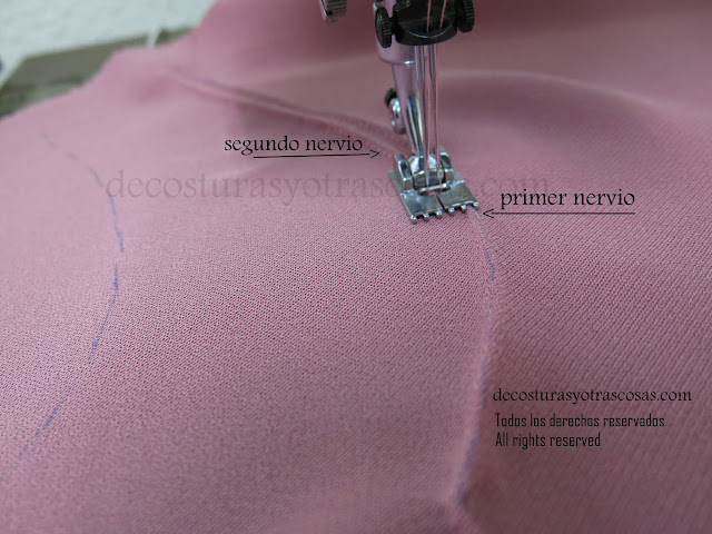 coser lorzas o alforzas