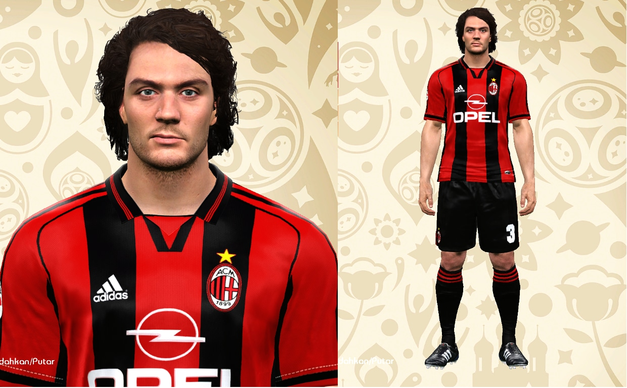 PES 2017 P. Maldini face by Eddie Facemakers